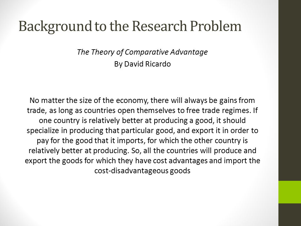 Background to the Research Problem