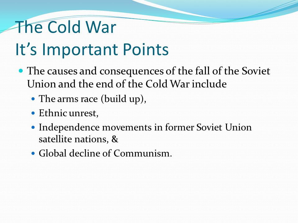 The Cold War It's Important Points