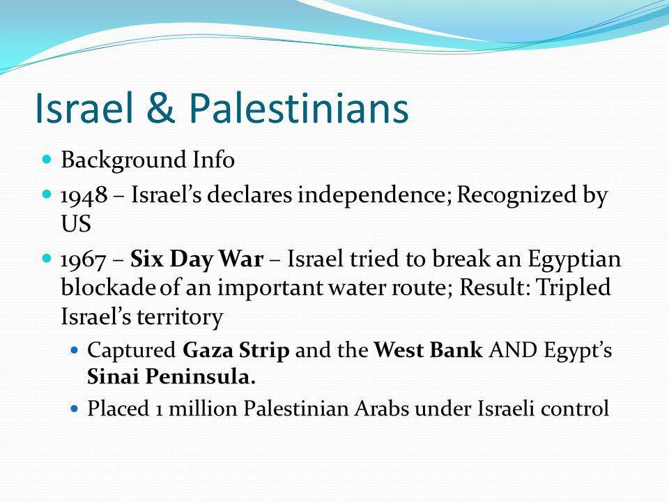 Israel & Palestinians Background Info