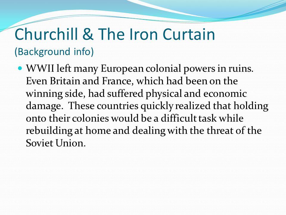 Churchill & The Iron Curtain (Background info)
