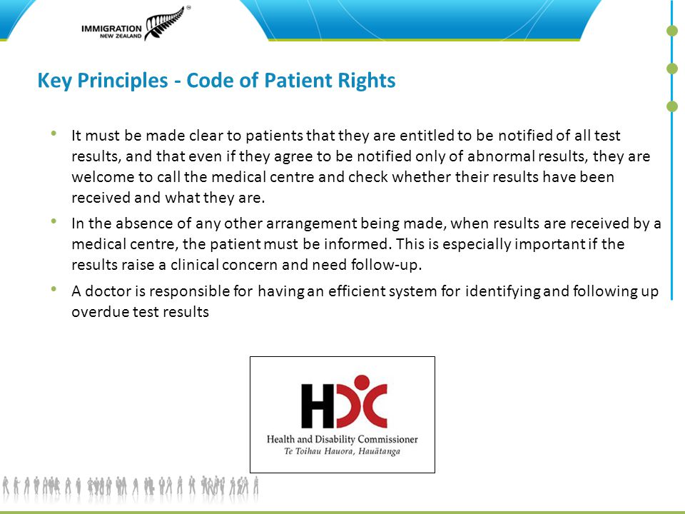 Key Principles - Code of Patient Rights