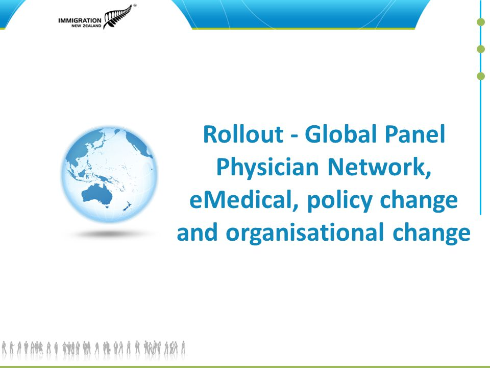 Rollout - Global Panel Physician Network, eMedical, policy change and organisational change