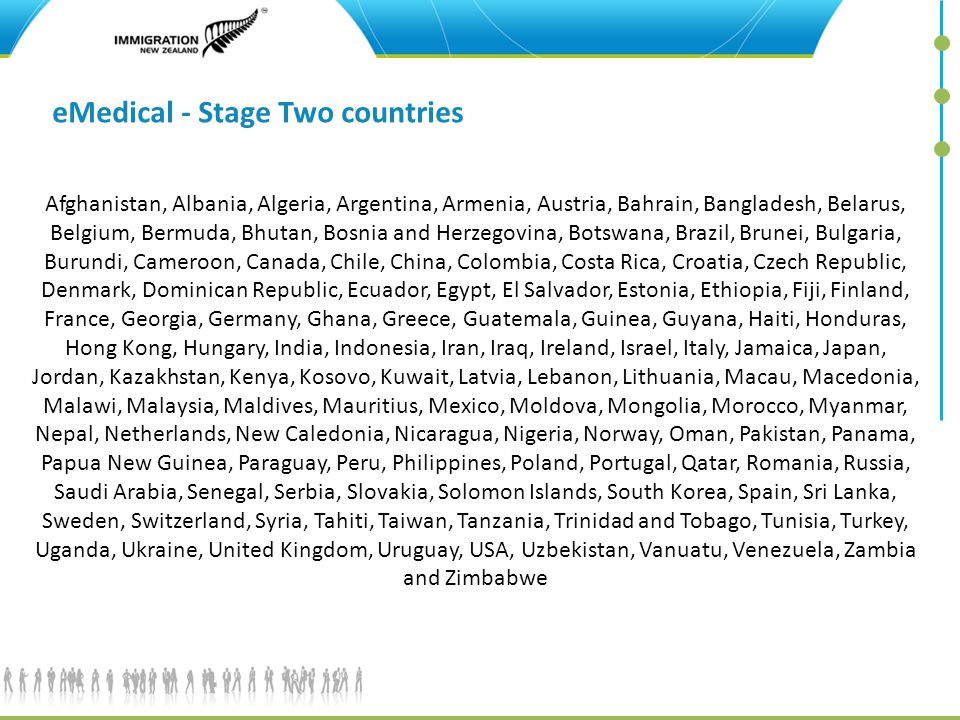 eMedical - Stage Two countries