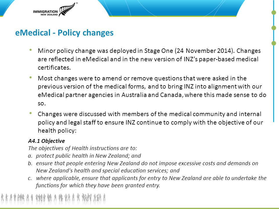 eMedical - Policy changes