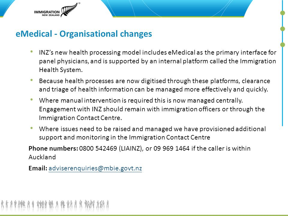 eMedical - Organisational changes