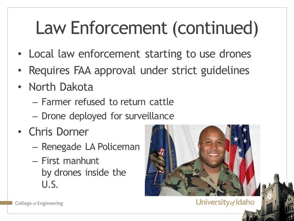 Law Enforcement (continued)