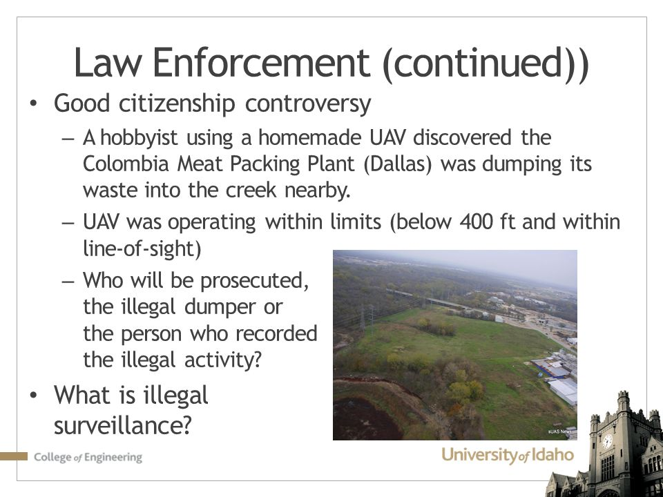 Law Enforcement (continued))
