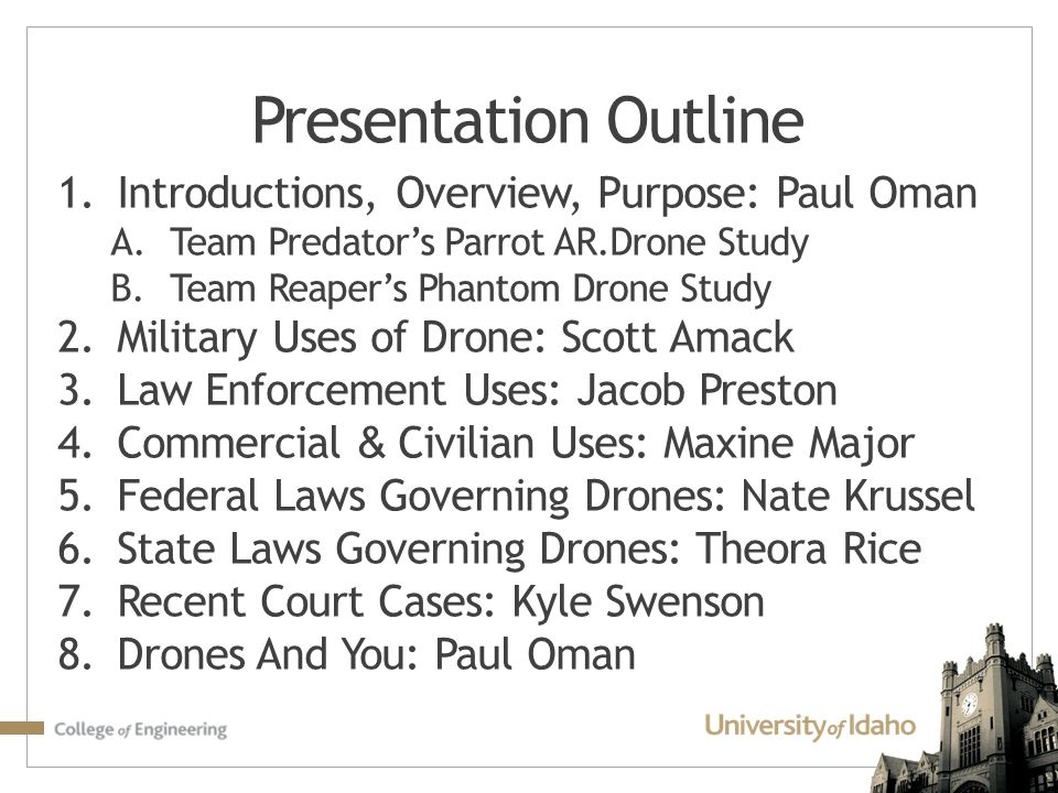 Presentation Outline Introductions, Overview, Purpose: Paul Oman