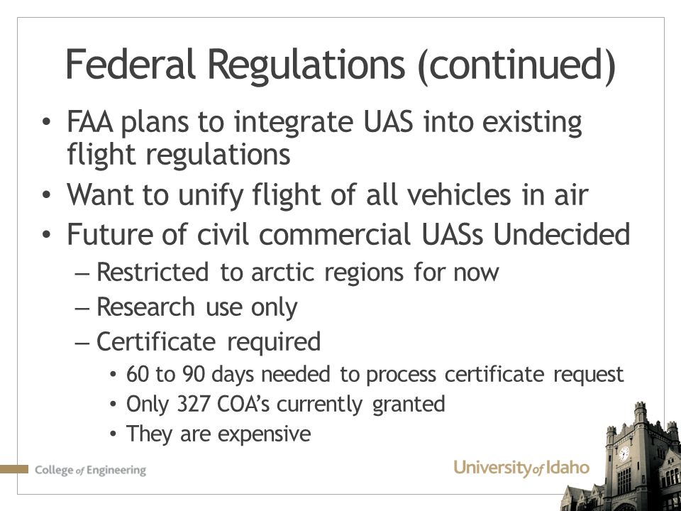 Federal Regulations (continued)