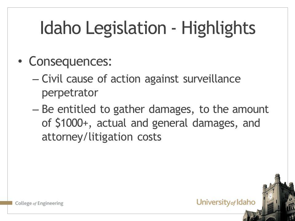 Idaho Legislation - Highlights