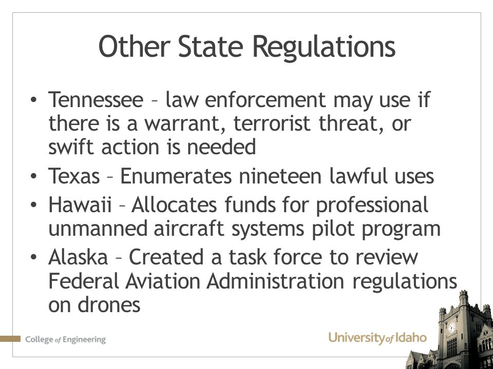 Other State Regulations
