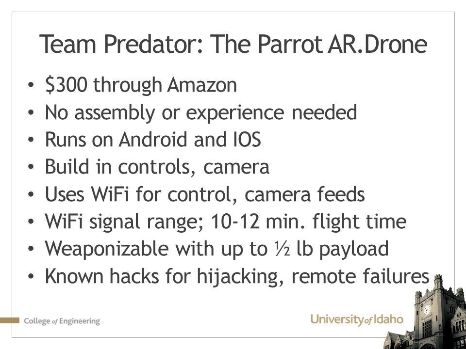 Team Predator: The Parrot AR.Drone