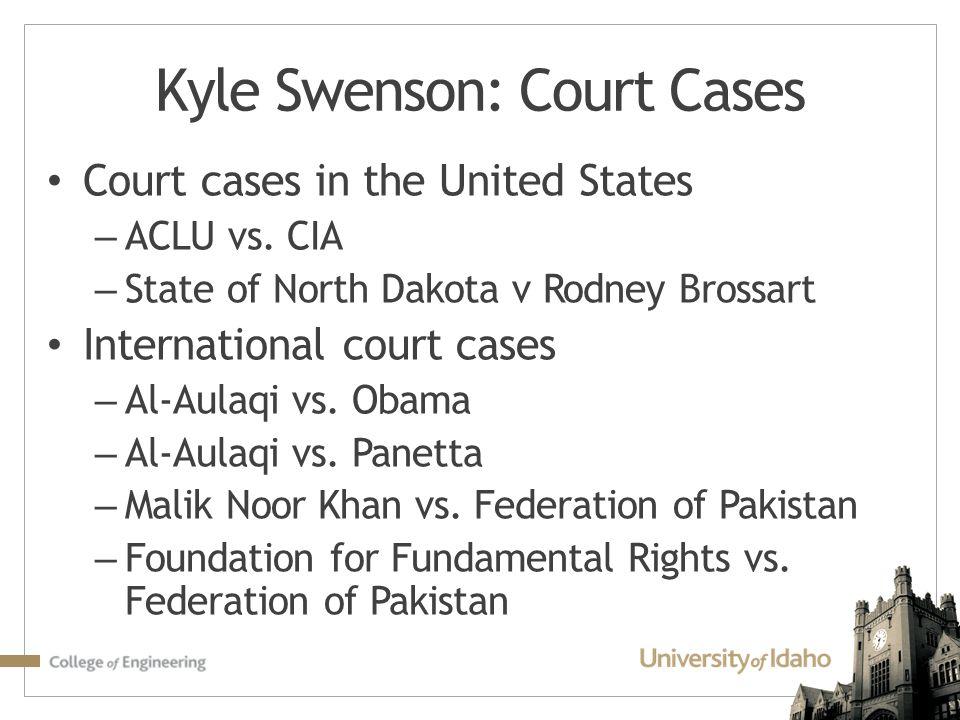 Kyle Swenson: Court Cases