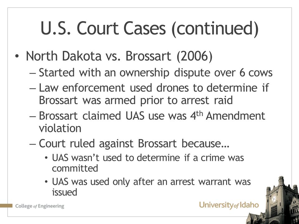 U.S. Court Cases (continued)
