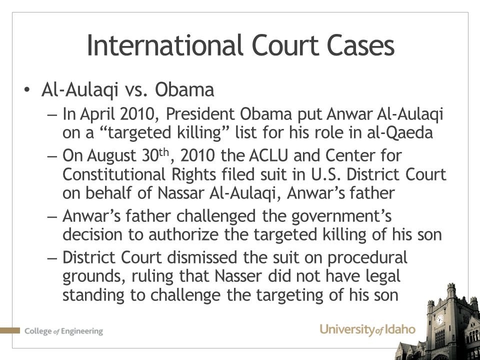International Court Cases