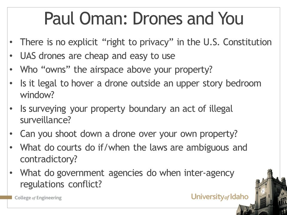 Paul Oman: Drones and You
