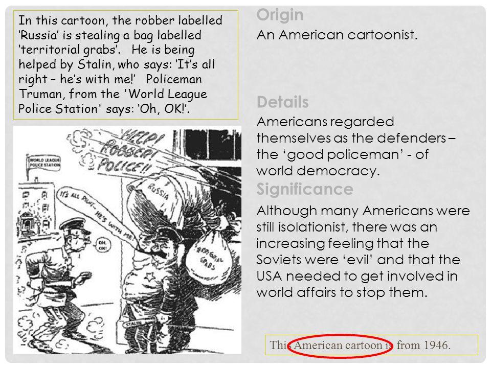 Origin Details Significance An American cartoonist.