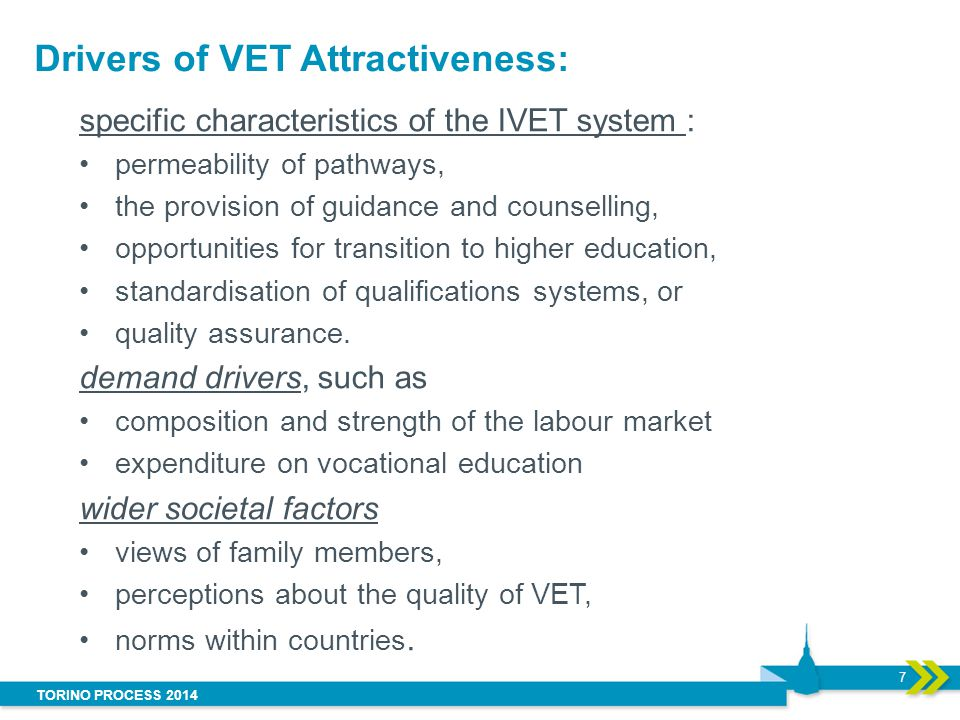 Drivers of VET Attractiveness: