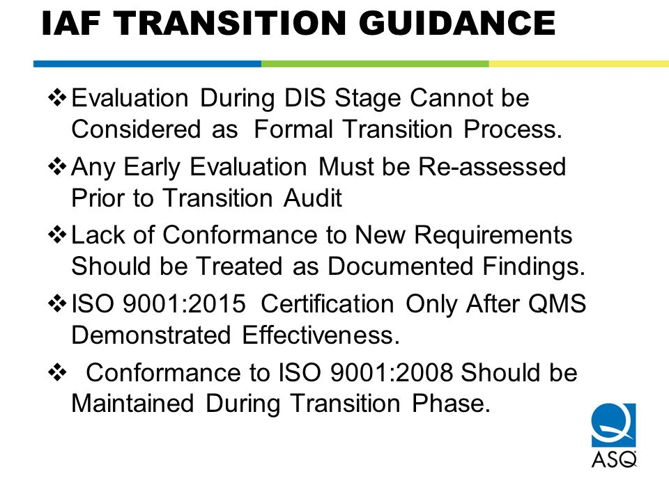 IAF TRANSITION GUIDANCE