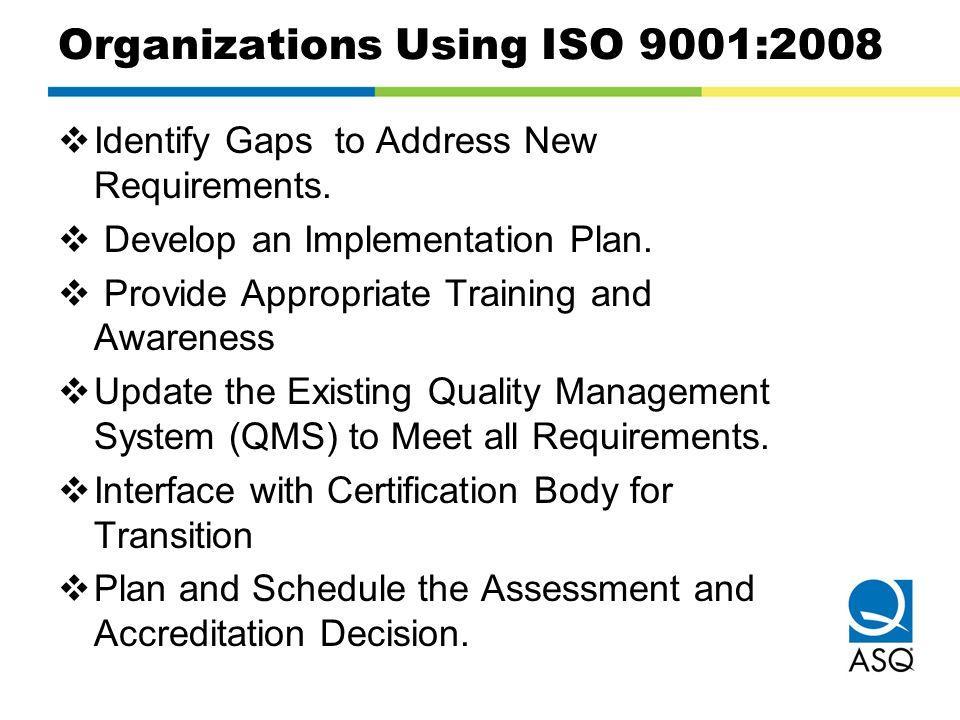 Organizations Using ISO 9001:2008