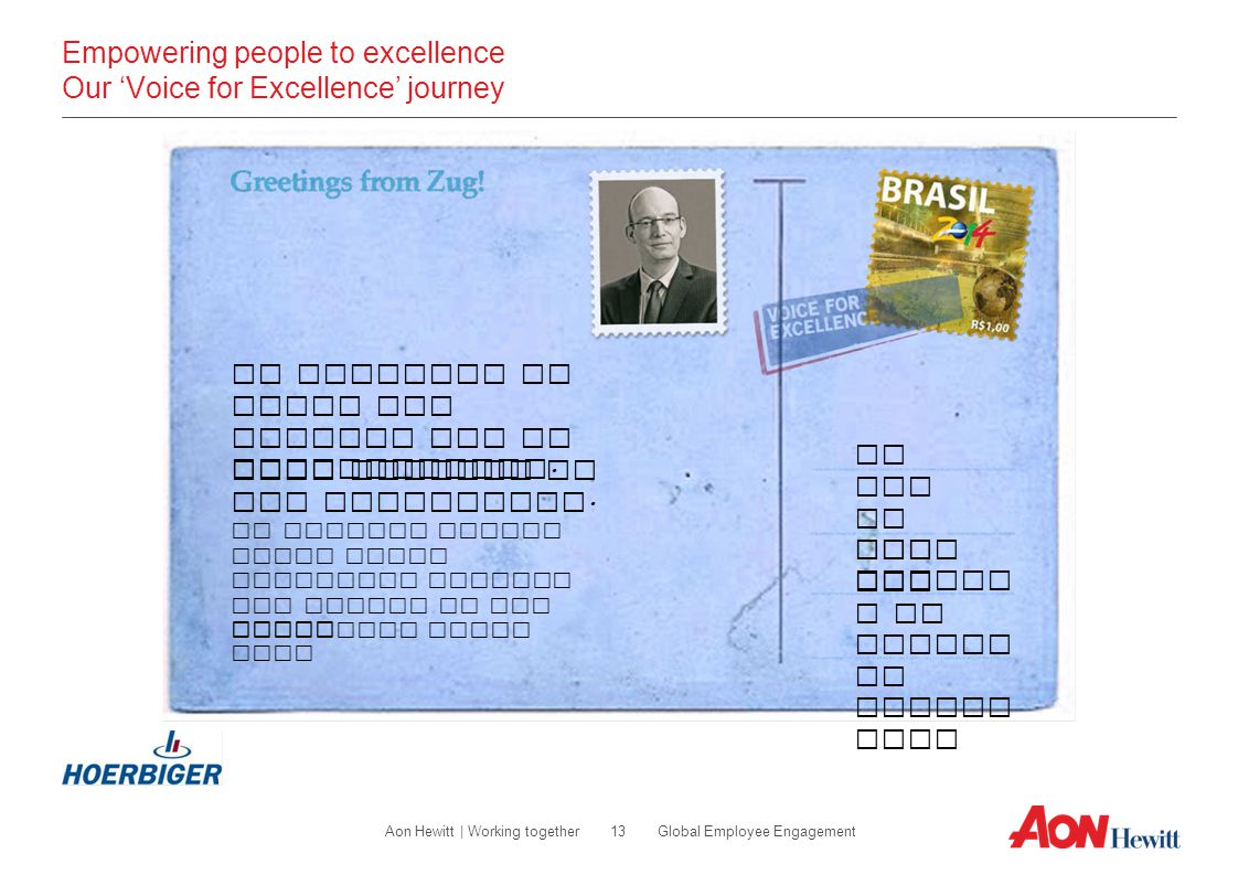 Empowering people to excellence Our 'Voice for Excellence' journey
