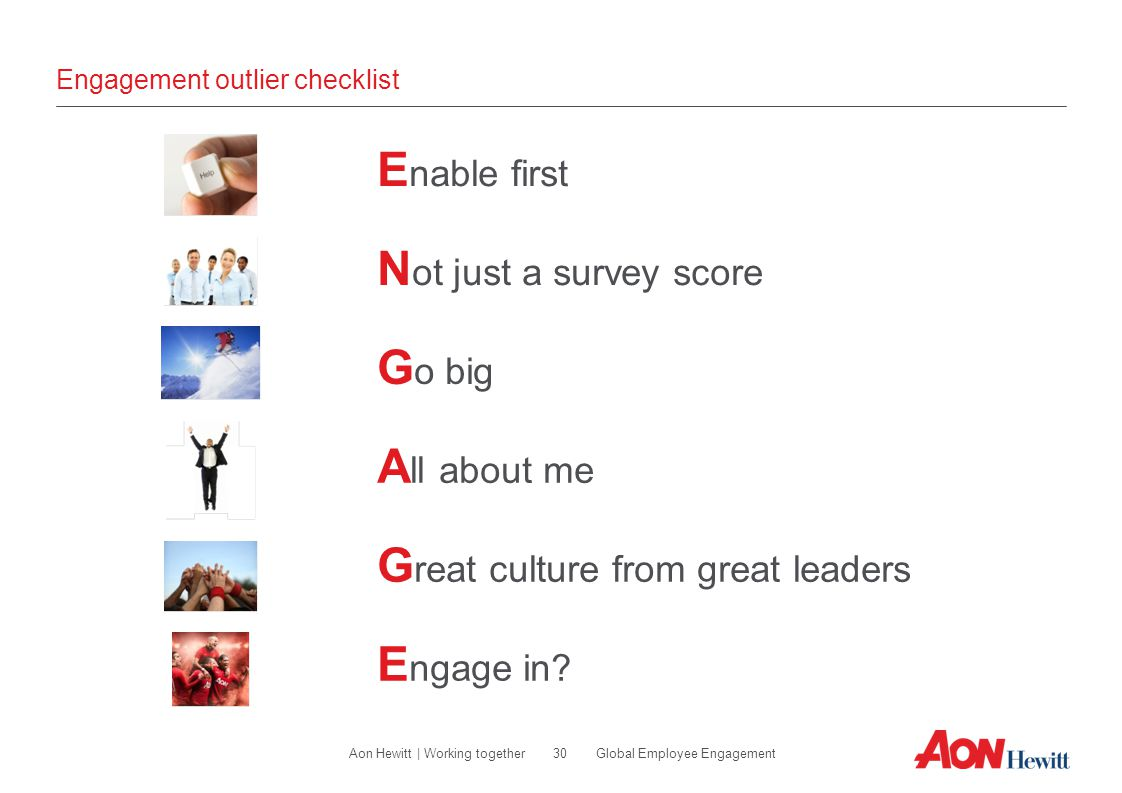 Engagement outlier checklist