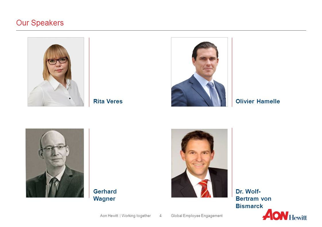 Our Speakers Rita Veres Olivier Hamelle Gerhard Wagner