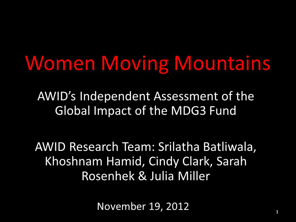 Women Moving Mountains