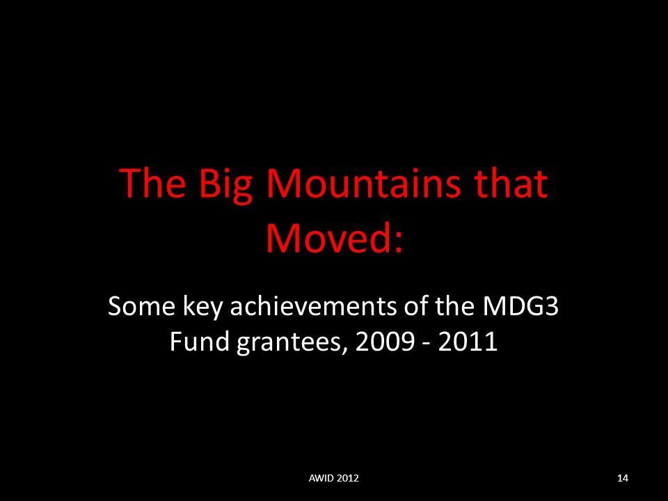 The Big Mountains that Moved:
