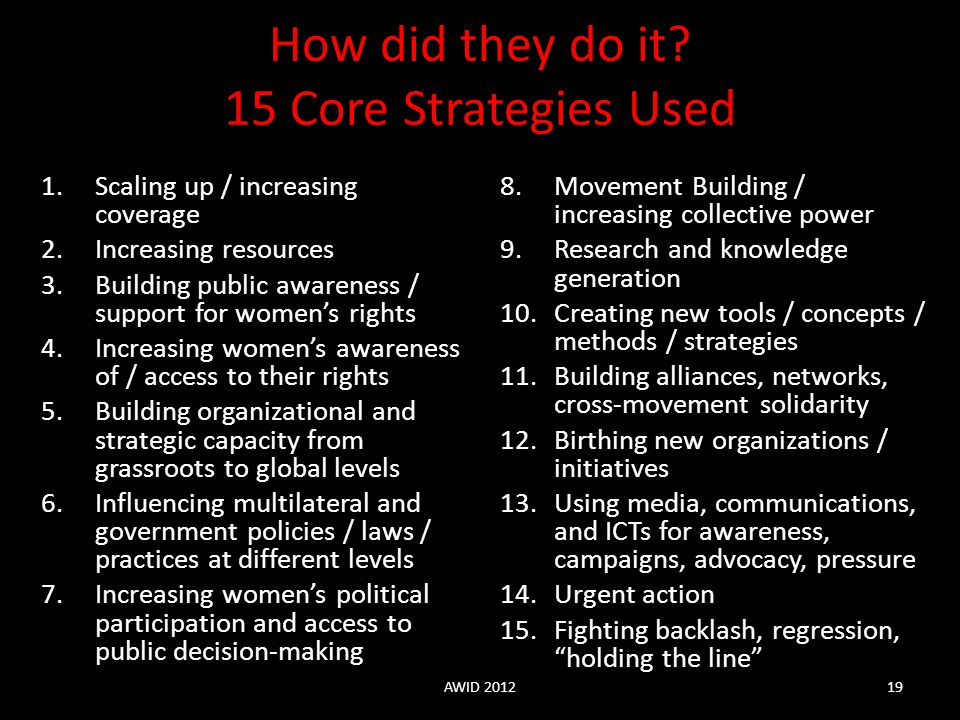 How did they do it 15 Core Strategies Used
