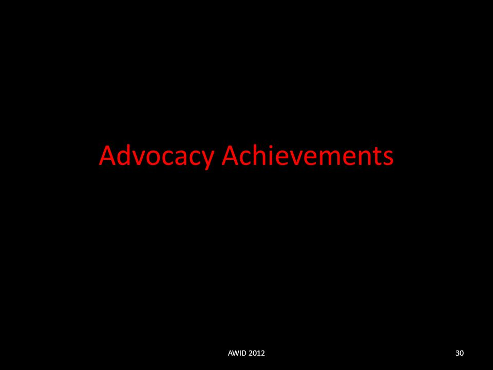 Advocacy Achievements