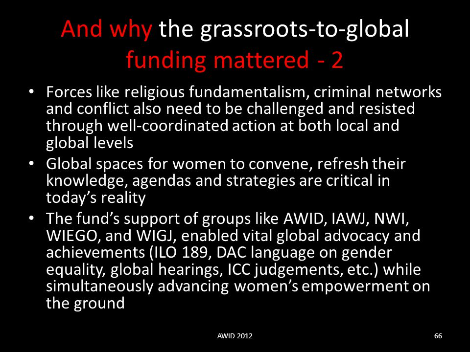 And why the grassroots-to-global funding mattered - 2