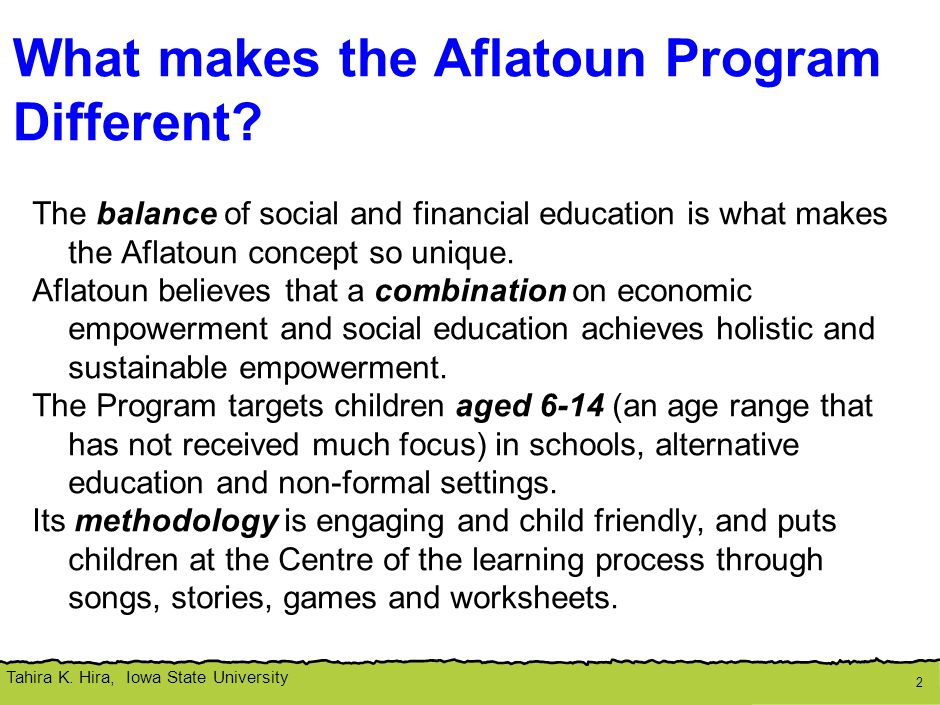 Aflatoun's Theory of Change