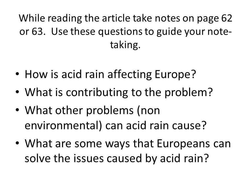 How is acid rain affecting Europe