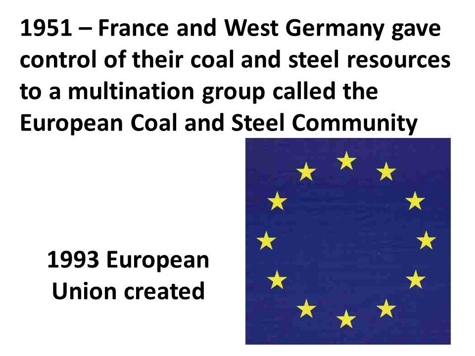 1993 European Union created