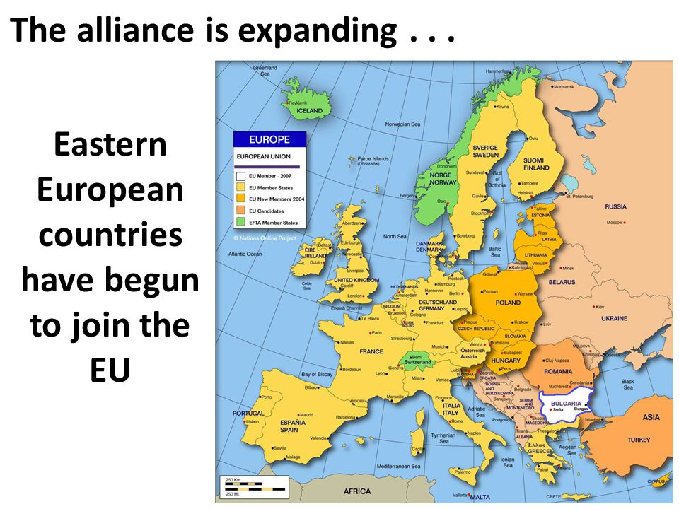 Eastern European countries have begun to join the EU