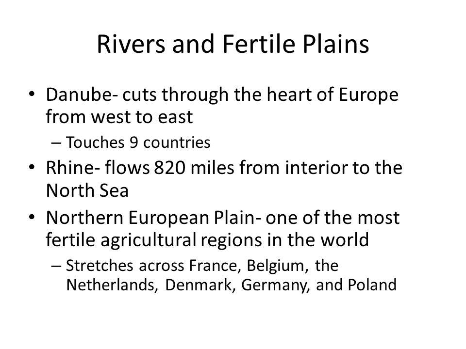 Rivers and Fertile Plains