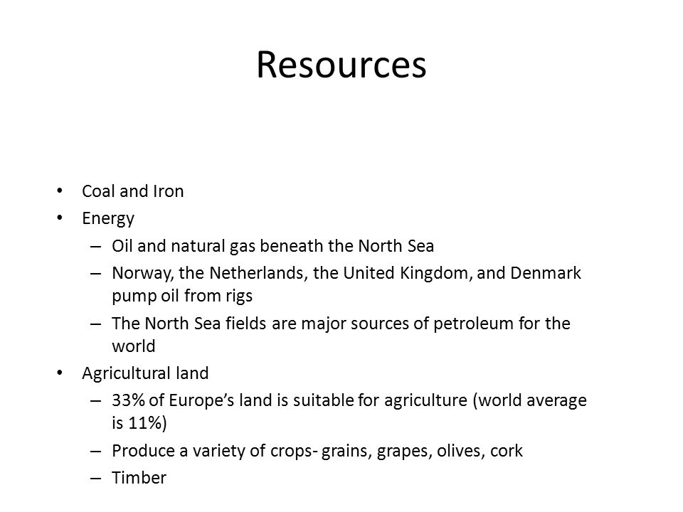 Resources Coal and Iron Energy