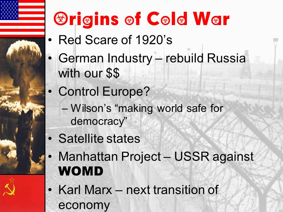 Origins of Cold War Red Scare of 1920's