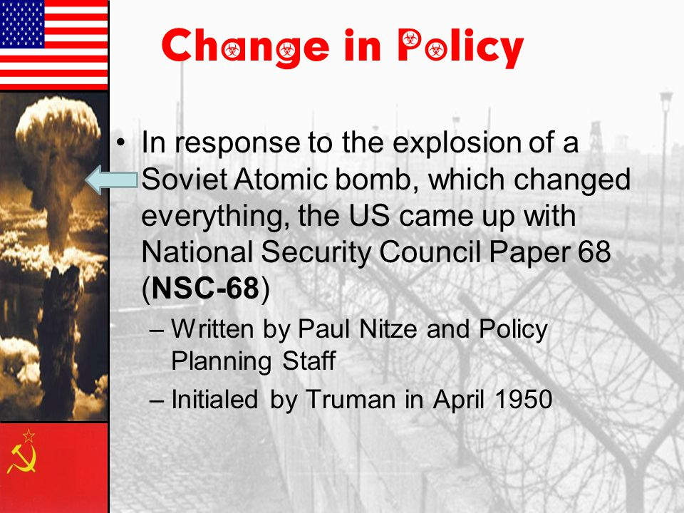kennan nitze and the nsc 68 essay Theinfolistcom - (nsc-68) national security council report 68 (nsc-68) was a 58-page top secret policy paper by the united states national security council presented.