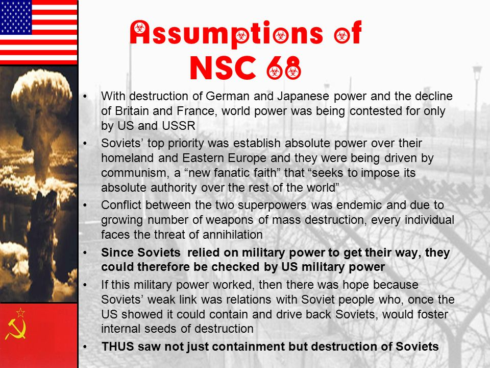 Assumptions of NSC 68