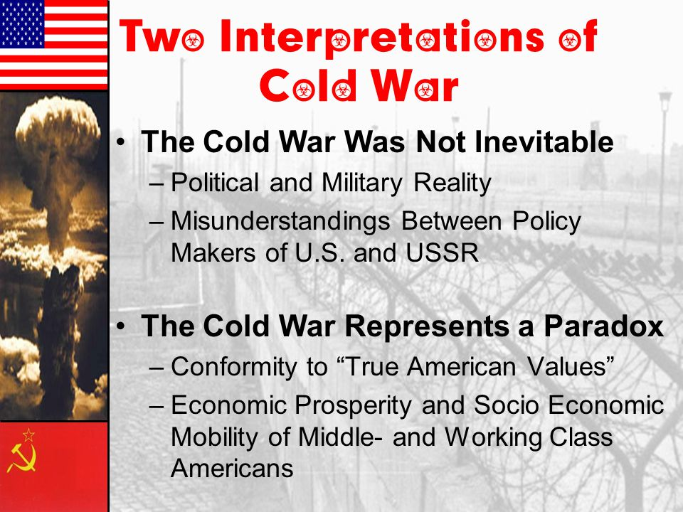 was the cold war inevitable It is inevitable that a trade war between china and the us will escalate into a new cold war, and the confrontation will press beijing and washington to form their own alliances and divide the.