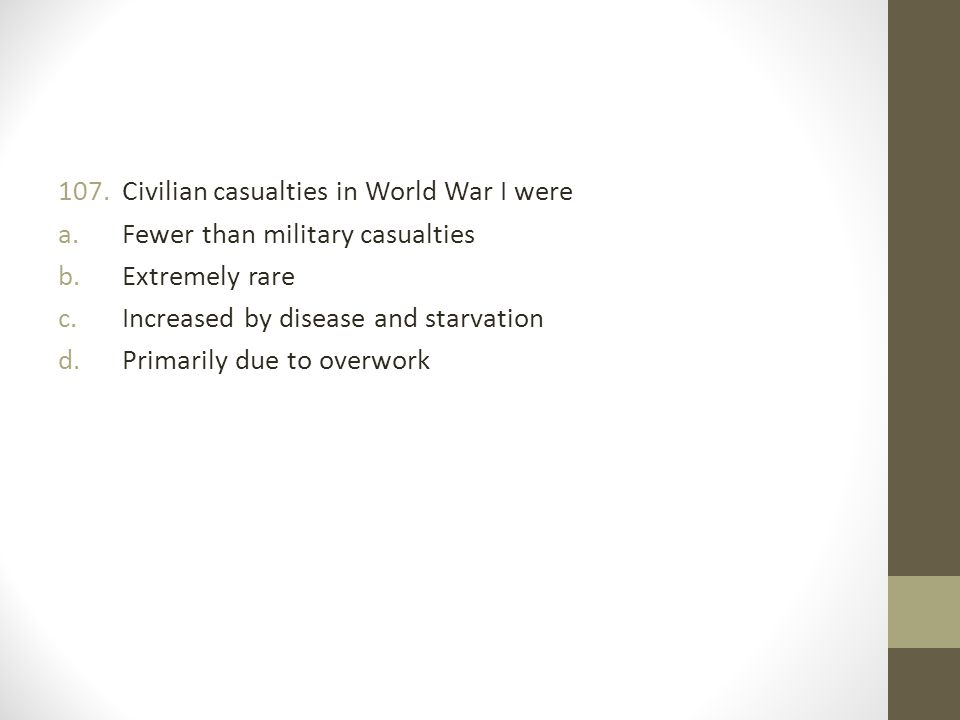 Civilian casualties in World War I were