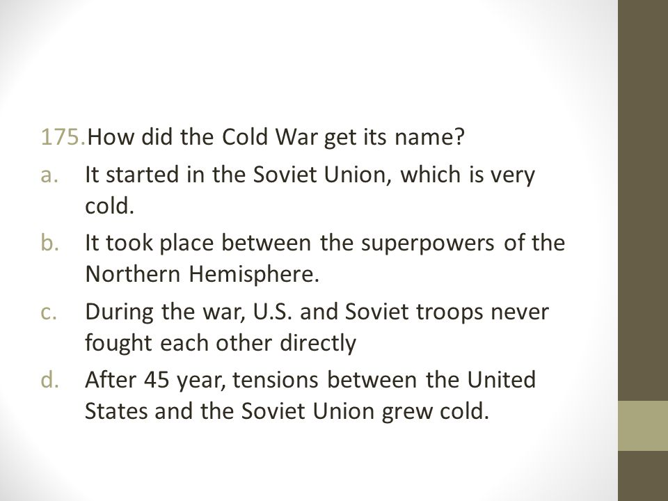 How did the Cold War get its name