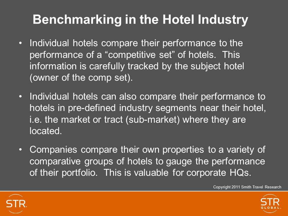 Benchmarking in the Hotel Industry