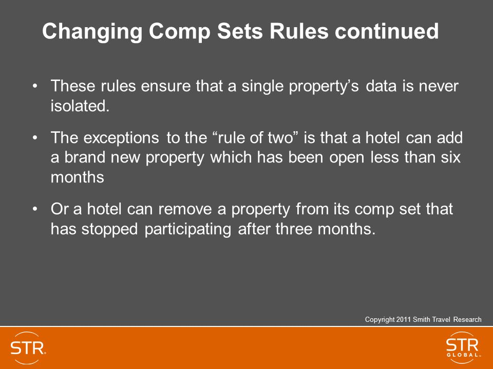 Changing Comp Sets Rules continued