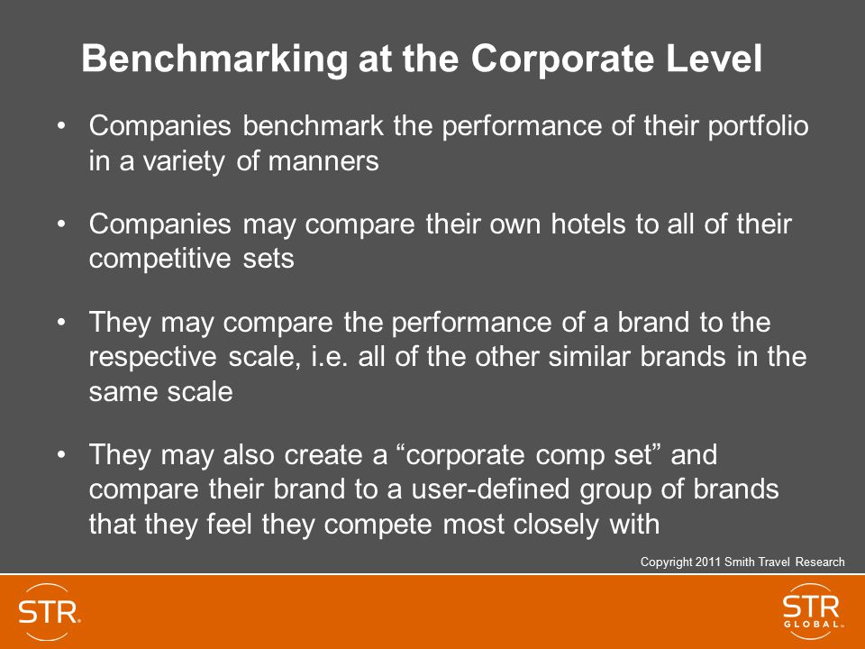 Benchmarking at the Corporate Level