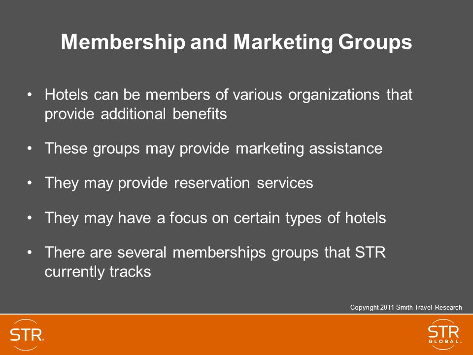Membership and Marketing Groups