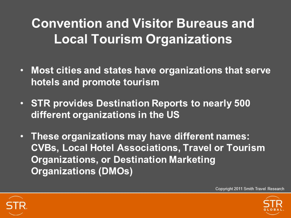 Convention and Visitor Bureaus and Local Tourism Organizations