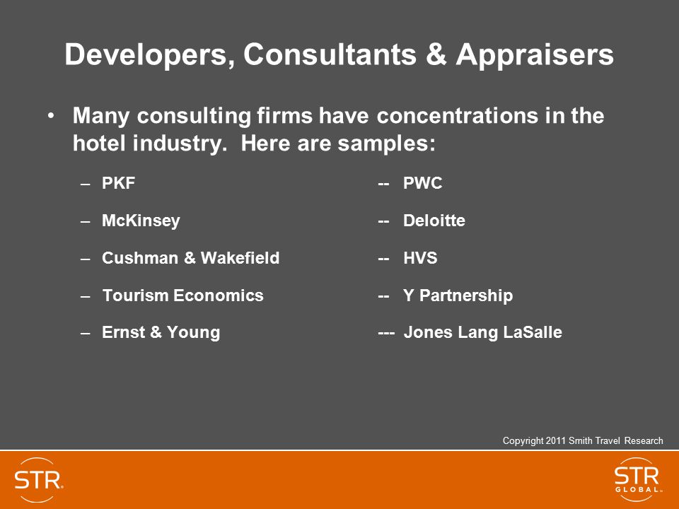 Developers, Consultants & Appraisers